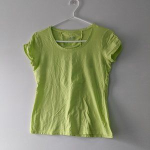 Columbia Sports T-Shirt Bright Green Size Small